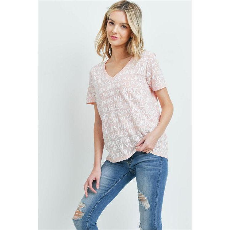 Fashion Cities Tee in Blush - Brim & Boho