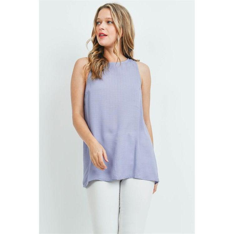 Lilac Tunic with Button Back - Brim & Boho