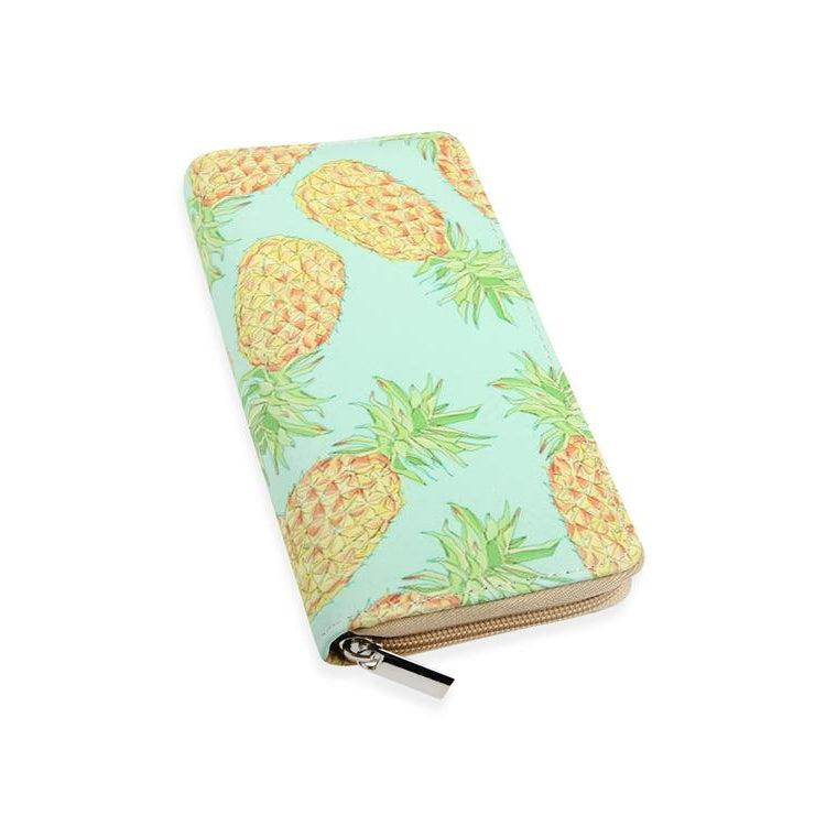 Pineapple Print Wallet - Brim & Boho