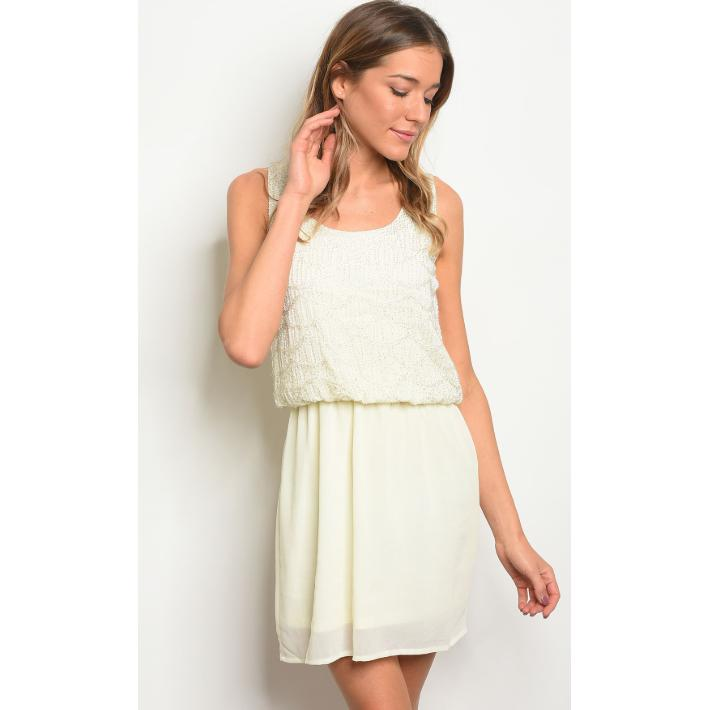 Ivory Overlay Dress - Brim & Boho