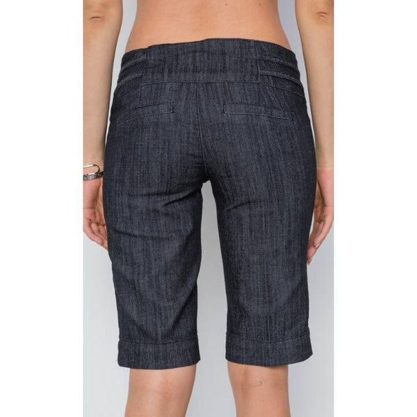 Low-Rise Bermuda Shorts Dark Rinse Denim - Brim & Boho