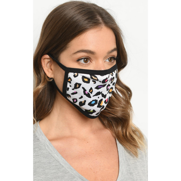 Multi-Color Dalmatian Print Cloth Face Mask - Brim & Boho