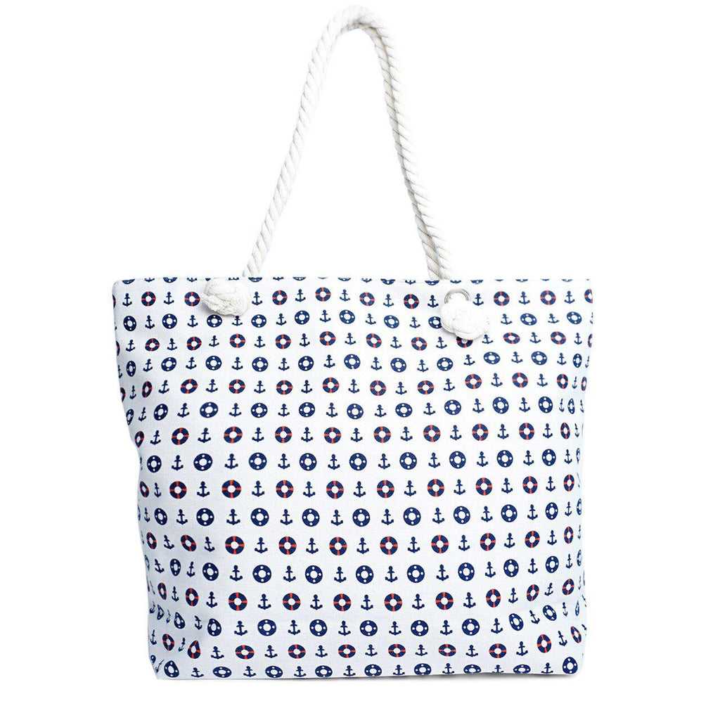 Nautical Tote Bag - Brim & Boho