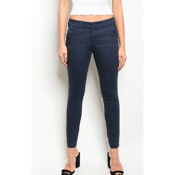 Navy Blue Pants - Brim & Boho