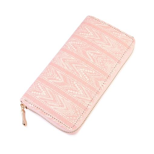 Pink Lace Design Zipper Wallet - Brim & Boho