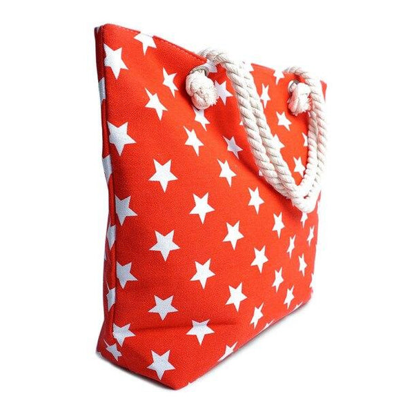 Red Stars Tote Bag - Brim & Boho