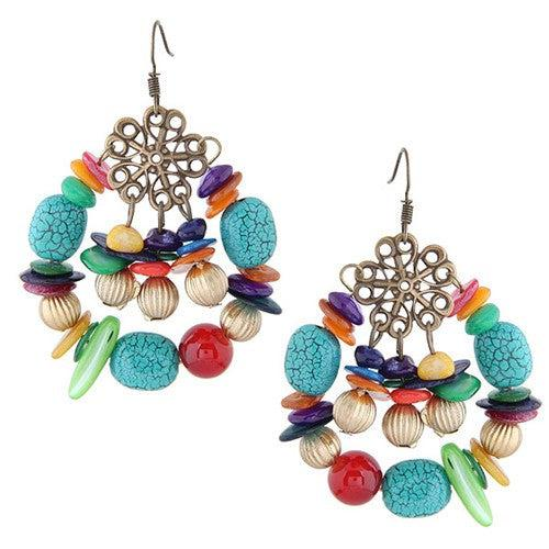 Bohemian Beaded Earrings - Brim & Boho