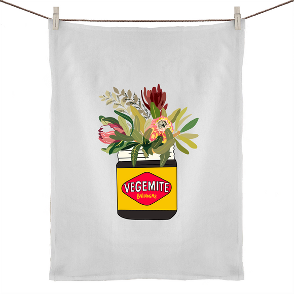 Vegemite Floral Tea Towel