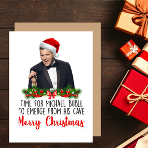 Michael Buble Christmas Card. Christmas Humour