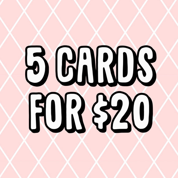 5 x Greeting Card Bundle Deal