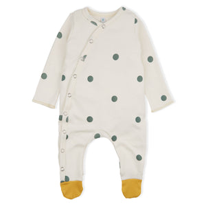 Organic Zoo Polka Dot Playsuit with Contrast Feet