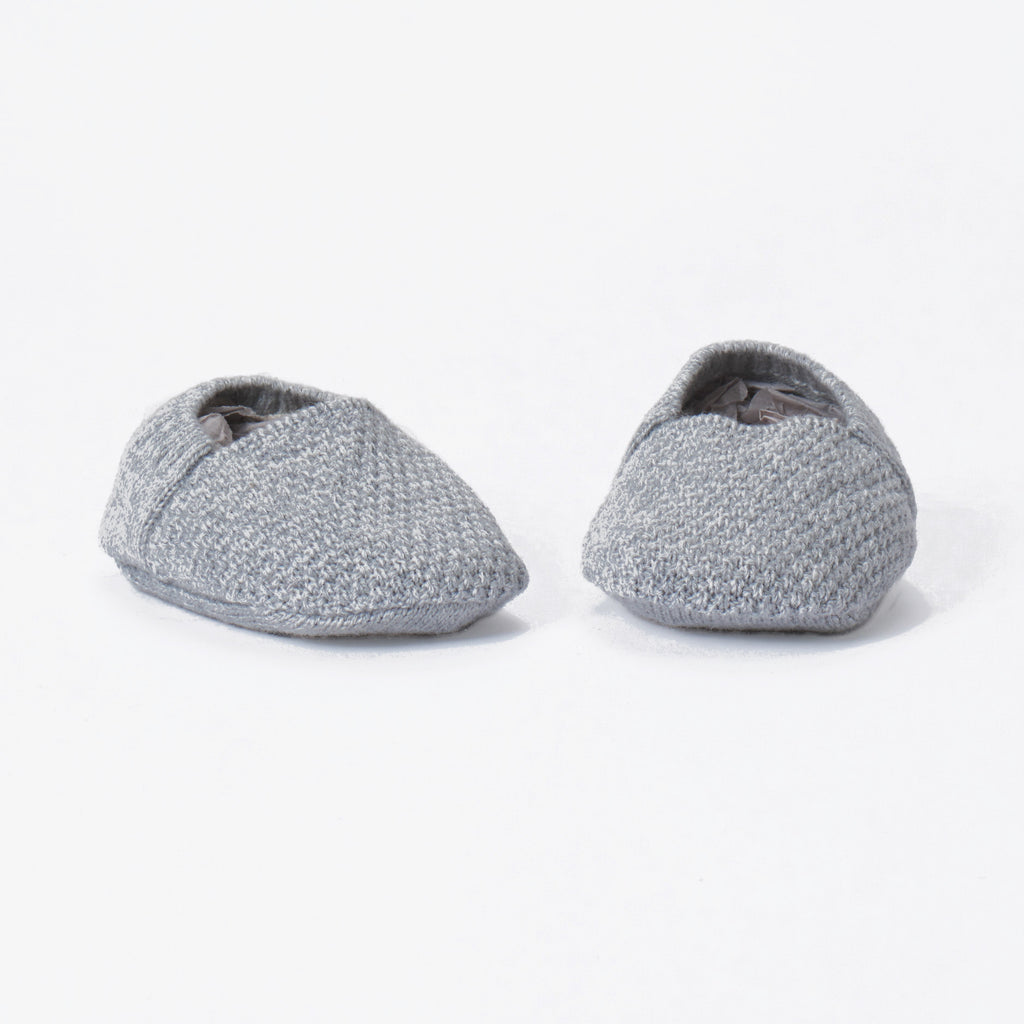 Tane Organics Knit Booties - Grey