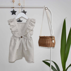 Freya Lillie Frill Strap Linen Dress