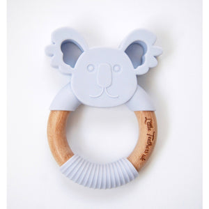 Little Teethers Koala Beechwood Silicone Teether - Lilac