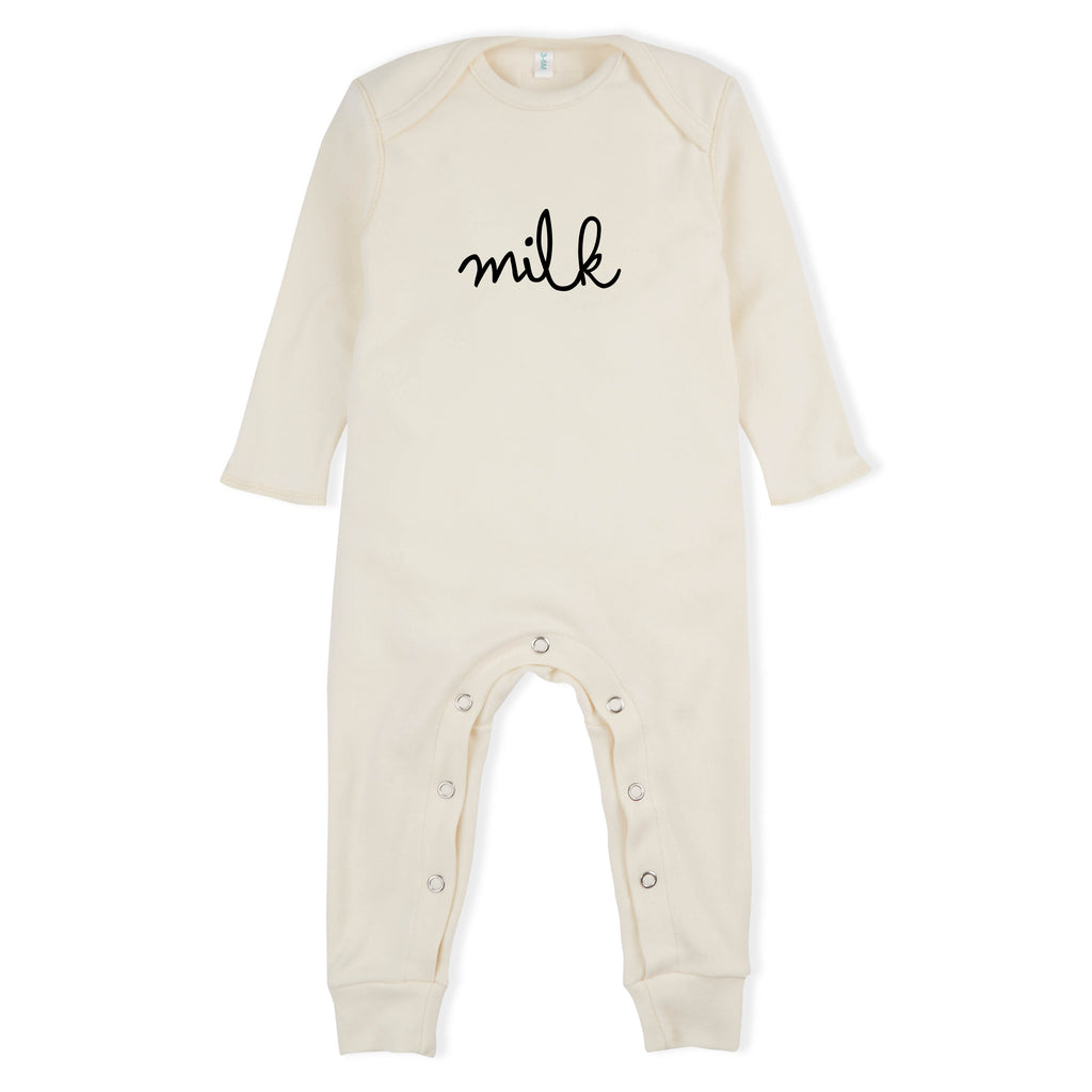 Organic Zoo Milk Playsuit