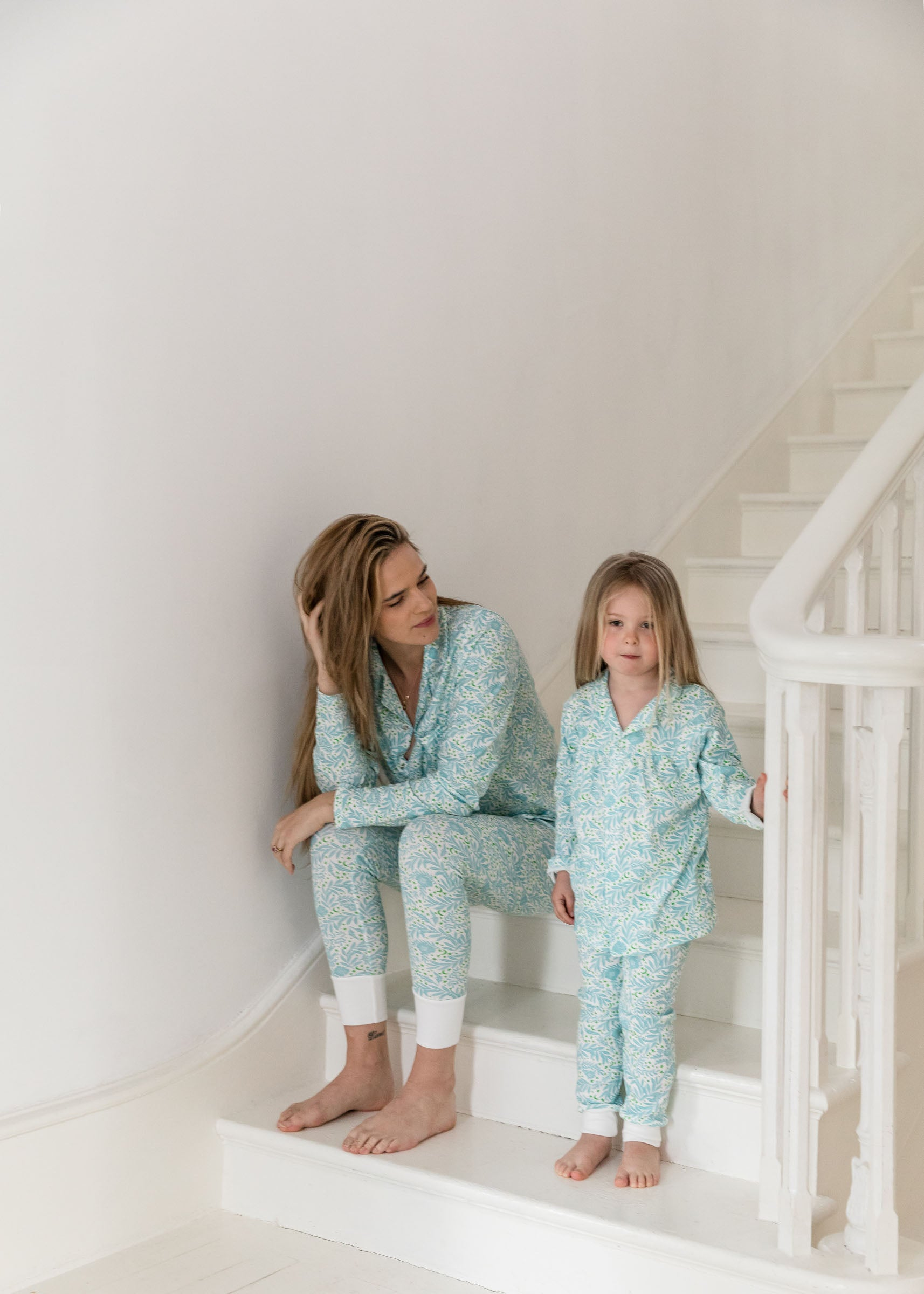 Sleepy Doe Morris Floral Revere Collar Kids PJ Set
