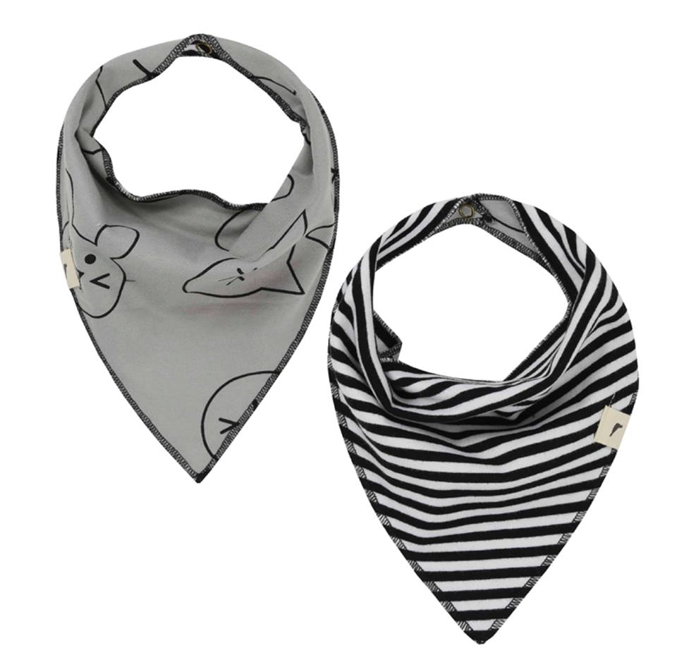 Turtledove London Reversible Bib Pets/Stripe