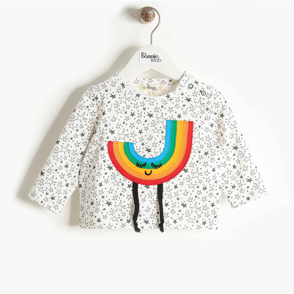 Bonnie Mob Chappy Rainbow Applique T-Shirt