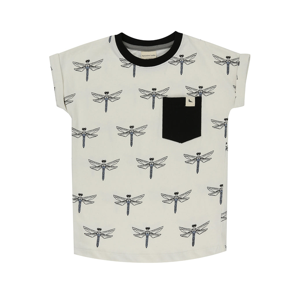 Turtledove London Longer Length Dragonfly T-Shirt