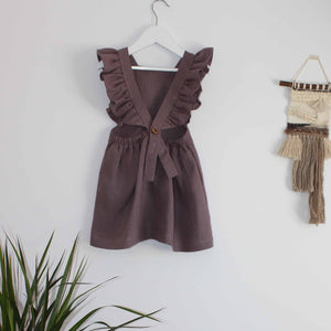 Freya Lillie Frilled Button Back Linen Dress