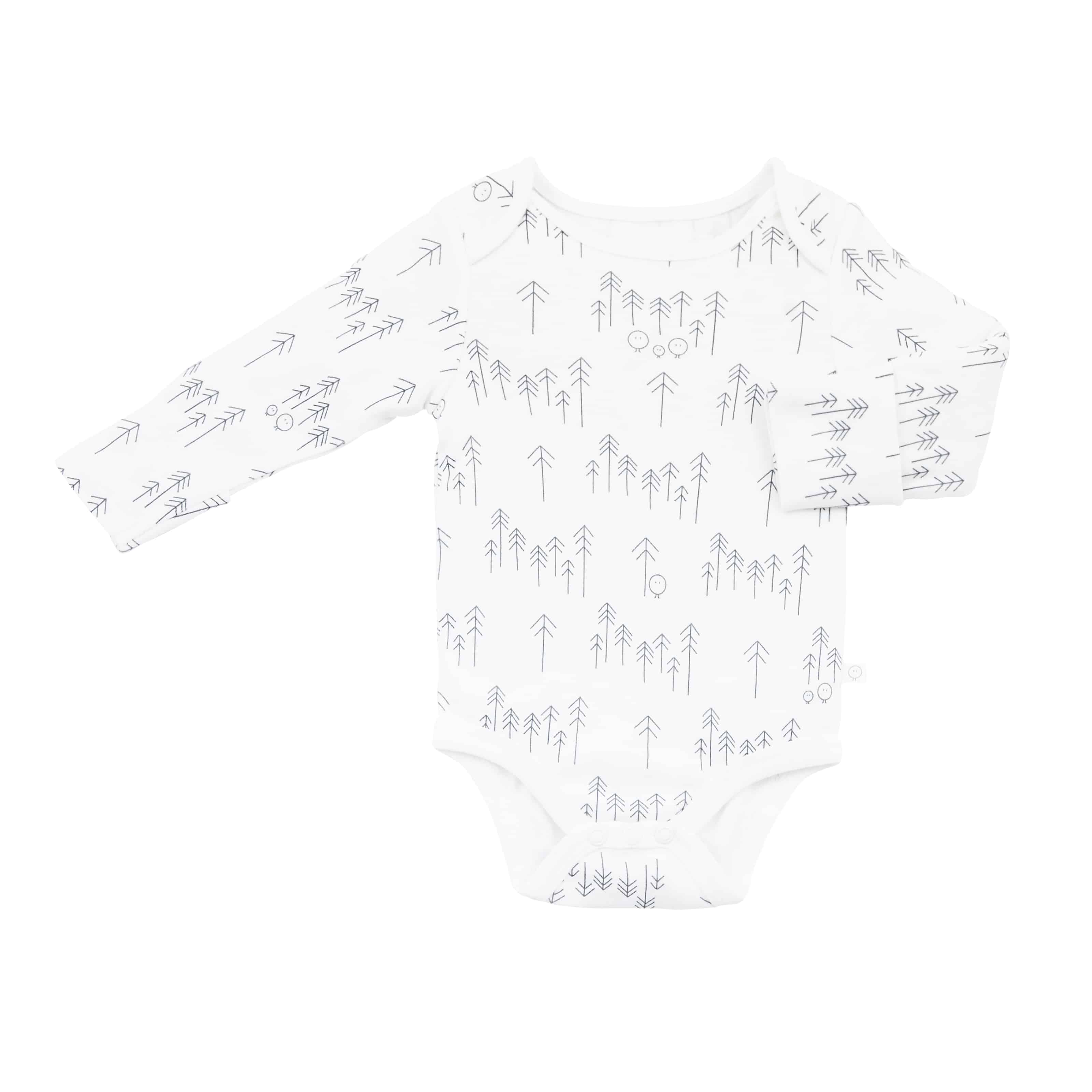 Baby Mori Long Sleeve Forest Print Bodysuit