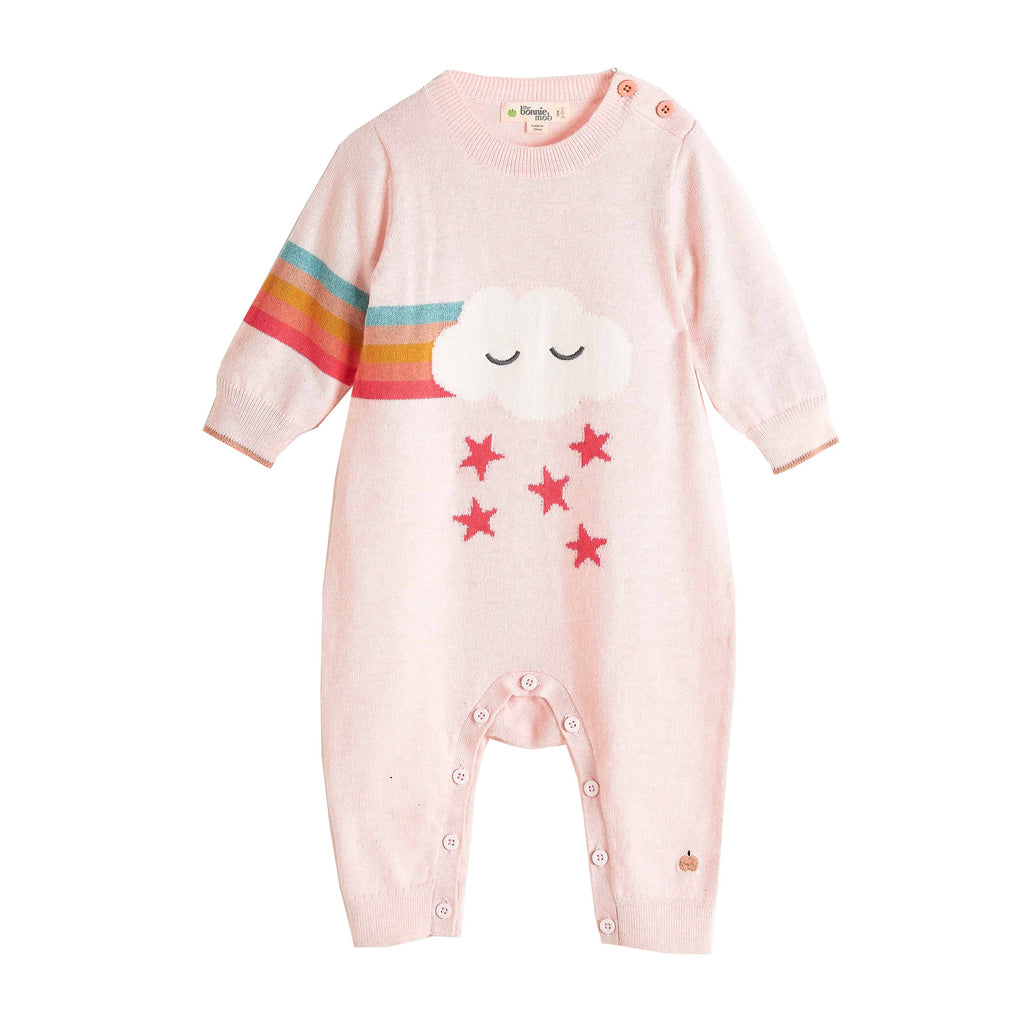 Bonnie Mob Rainbow Cloud Knitted Playsuit