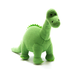 Knitted Green Medium Diplodocus Toy