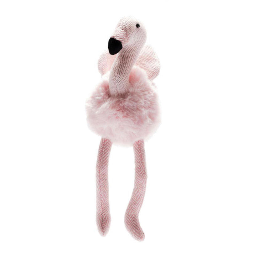 Flamingo Knitted Small Rattle