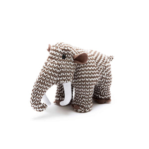 Knitted Small Woolly Mammoth Toy Rattle