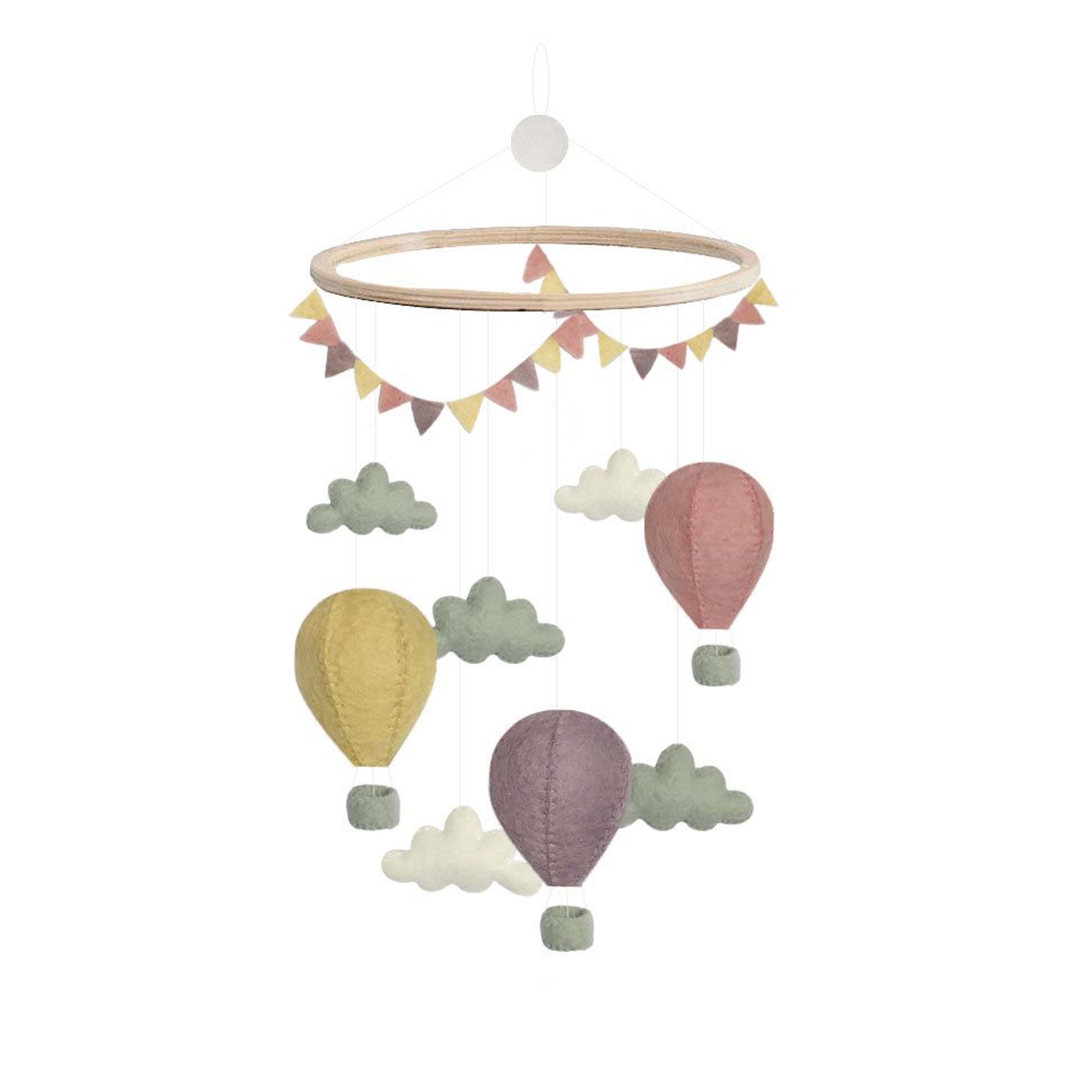 Gamcha Pastel Air Balloon Mobile