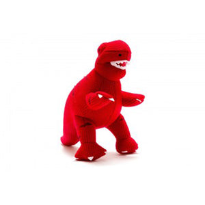 Knitted Red T-Rex Medium Toy