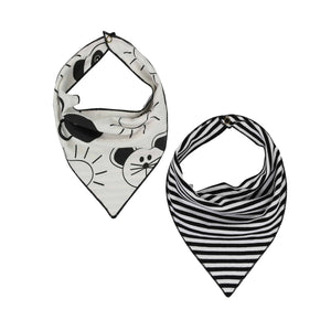Turtledove London Reversible Bib beach pals / stripe