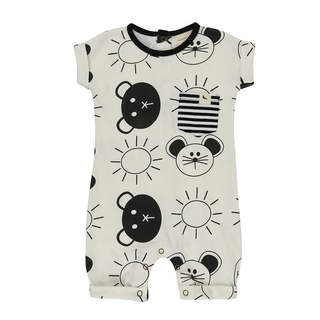 Turtledove London Roll Sleeve Beach Pals Playsuit