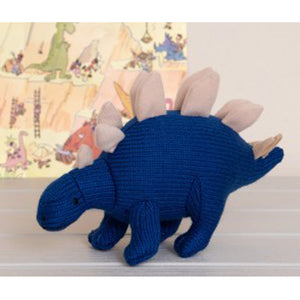 Knitted Stegosaurus Rattle Toy