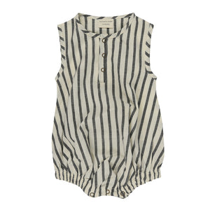 Turtledove London Stripe Woven Bubble Romper