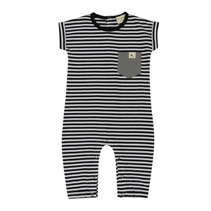Turtledove London Roll Sleeve Stripe Playsuit