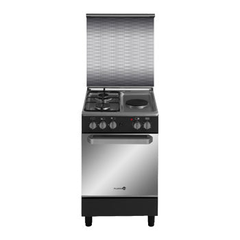 Fujidenzo 50cm Cooking Range (2 Gas + 1 Electric, Gas Oven, Rotisserie) | Model: FGR-5521VTRMB