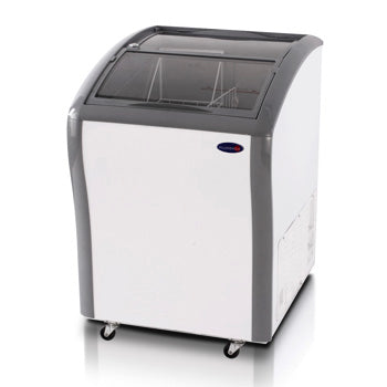Fujidenzo 5 cu. ft. Curved Glass Top Chest Freezer / Chiller (Dual Function) | Model: FS-05 CDF