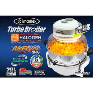 Imarflex 9L Turbo Broiler with 8L Air Fryer Ring | Model: CVO-825SF