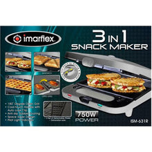 Load image into Gallery viewer, Imarflex 3-in-1 Snack Maker | Model: ISM-631R