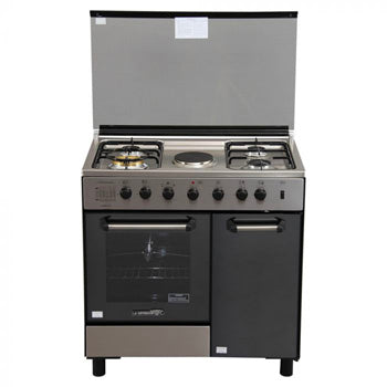 La Germania 84cm Cooking Range (4 Gas Burner + 1 Electric Hot Plate, All Electric Oven with Rotisserie) | Model: FS8041 40XTR