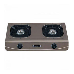 La Germania Double Burner Gas Stove (85mm Cast Iron, Stainless Steel) | Model: G650X
