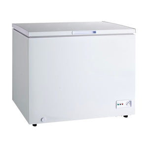 Markes 8.9 cu. ft. Solid Top with Sliding Glass Cover Chest Freezer | Model: MCFSG-252X
