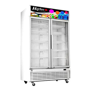 Markes 35.3 cu. ft. Two Door Upright Glass Chiller / Beverage Cooler | Model: MSR2-1000D