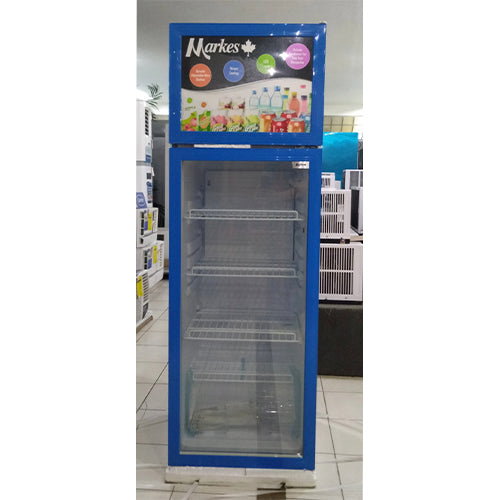 Markes 8.8 cu. ft. Upright Glass Chiller / Beverage Cooler with Top Freezer | Model: MSRF-251BLJ