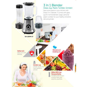 Sharp 1L Blender | Model: EM-100PM-ST