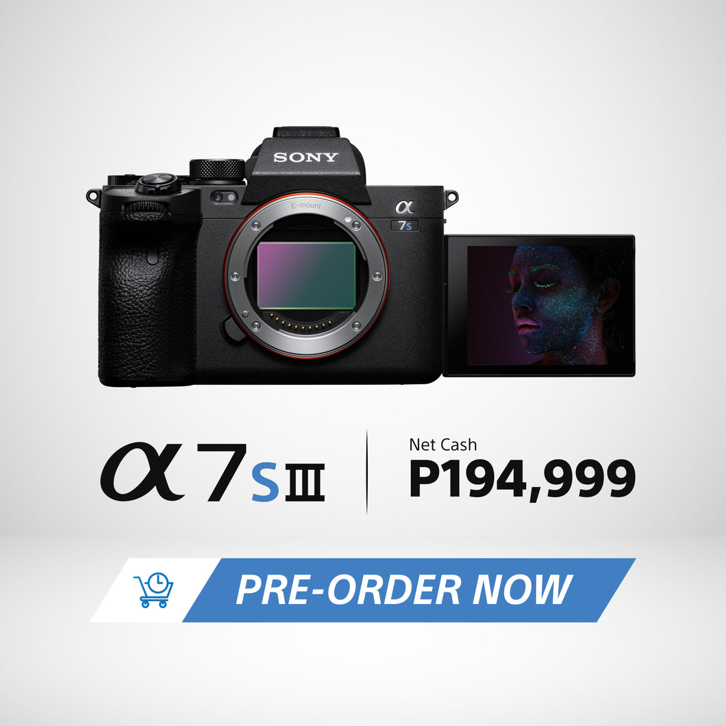 [PRE-ORDER] Sony Alpha A7S III with Pro Movie/Still Capability (Body Only) | Model: ILCE-7SM3