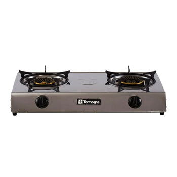 Tecnogas Double Burner Gas Stove (Full Stainless Steel) | Model: GS200BCSS
