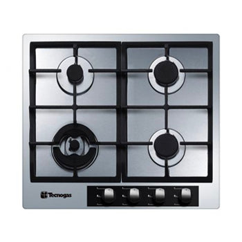 Tecnogas 60cm Built-in Hob (4 Gas Burners, Stainless Steel 304) | Model: TBH6040CSS