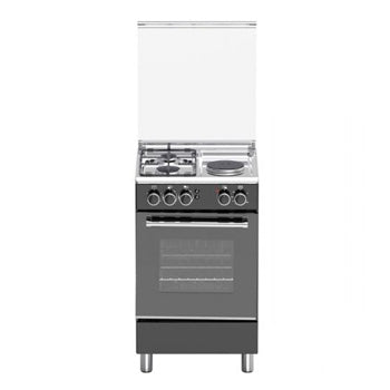 Tecnogas 50cm Cooking Range (2 Gas + 1 Electric Hot Plate, Gas Oven) | Model: TFG5521CVMB